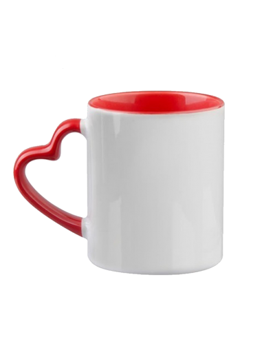 Mugs - Heart Shaped Handle - Custom...